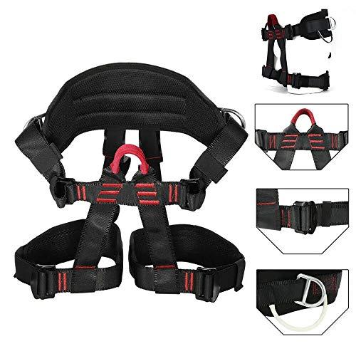 DLSMB Klettergurte Klettergurt, Baum, das Felsklettern Harness Equip Gang Rettungs-Sicherheits-Sicherheitsgurt (Color : Black, Size : One Size)