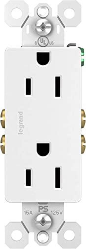 discount Legrand radiant 15 Amp Receptacle Decorator Outlet, White, (Pack of lowest 10), 885WCP8 outlet online sale (Singlе расk) outlet online sale