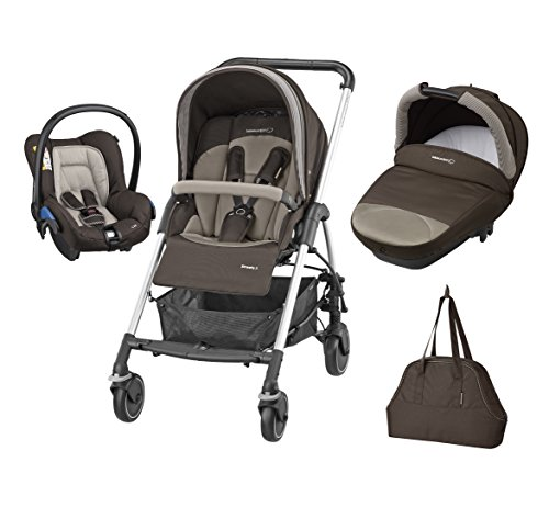 Bébé Confort Streety Next - Cochecito de paseo para bebé, 3 piezas, color earth brown