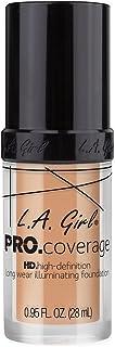 La Girl Pro Coverage Luminous Liquid Foundation - Porcelain
