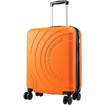 Cabin Max Velocity Valise à 4 Roues Rigide Ultra Légère |Valise Bagage de Cabine en ABS Solide 55x40x20 avec Zip Extensible à 55x40x25. Approuvé par Voli Ryanair, EasyJet, BA (Séville Orange)