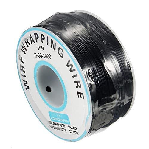 Condensadores Negro 0,55 mm 5pcs Placa de Circuito de un núcleo de Cobre estañado de Alambre Wire Wrap electrónico Fly Wire Cable de Puente de Cable