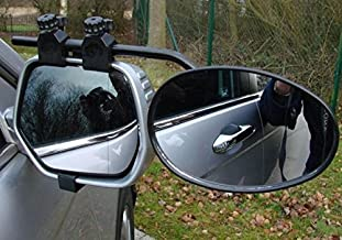 1 x Maypole Universal Deluxe Dual Wing Convex /& Flat Glass Towing Mirror MP8326