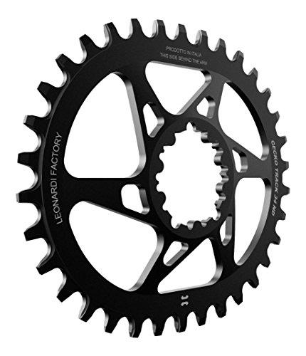 Leonardi Factory Gecko Track Oval SRAM Offset 6 - Plato de bicicleta, color negro, tamaño 32