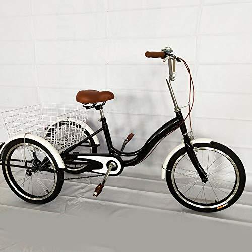 20' Bicicleta con 3 Ruedas,Triciclo de ruedas para adultos,Triciclo adulto de una...