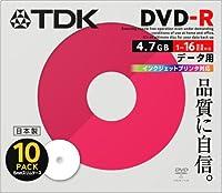 TDK 日本製 DVD-R 16倍速 インクジェットプリンタ対応(ホワイト) 5mmケース入り 10枚 DR47PWC10S