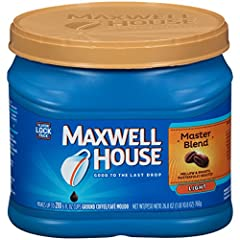 One 26.8 oz. can of Maxwell House Master Blend Light Roast Ground Coffee Maxwell House Master Blend Light Roast Ground Coffee has a consistently great taste Light roast ground coffee is mellow, smooth and gentle on the palate Made with 100% real coff...