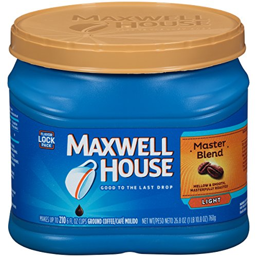 Maxwell House Ground Coffee: 30.6-Oz Original Roast $4.25, 26.8-Oz Master Blend $3.70 w/ Subscribe & Save