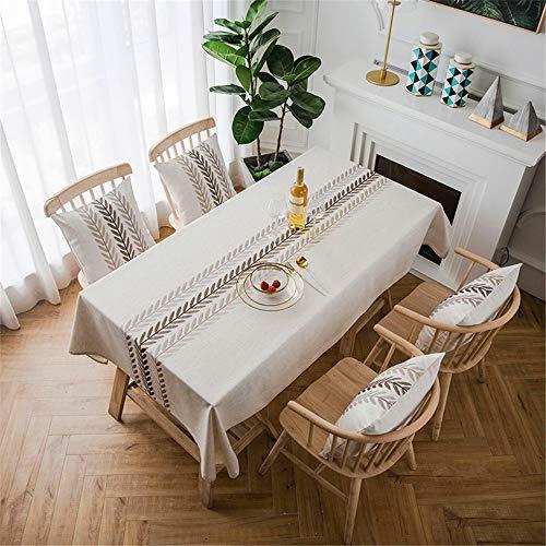 SONGHJ Bestickte Tischdecke wasserdicht Pastorale Küche Rechteck Tischabdeckung für Hochzeit Staubdicht Esszimmer Picknick Matte B 135x300cm