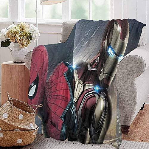 Housedecor - Morbide coperte Iron Man e Spiderman Rl, comoda e calda coperta da spiaggia, 60 x 35 cm