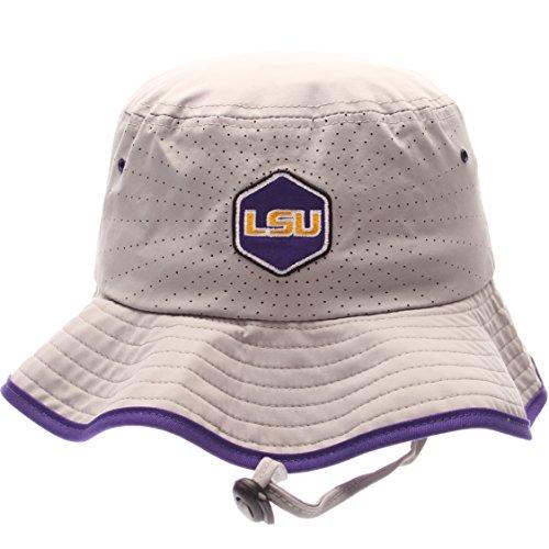 NCAA Zephyr Lsu Tigers Mens Radiant Bucket Hat, Large, Gray