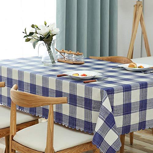 JXXDQ Housse de table en tissu Housse de table rectangulaire Housse en tissu de mariage simple (Color : Blue, Size : 130 * 190cm)