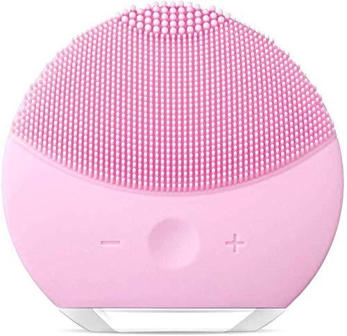Cepillo de Limpieza Facial, Masajeador Facial y Dispositivo de Cuidado de la piel Antienvejecimiento Para Todos los Tipos de piel (Rosa1)