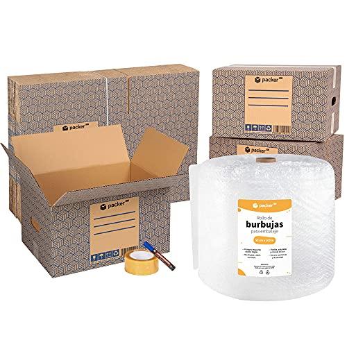 packer PRO Pack Mudanza con 5 Cajas Carton Mudanza 600x300x275mm, 10 Cajas...