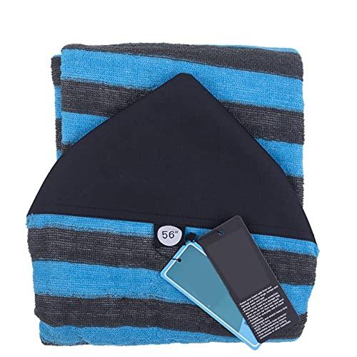 Cubierta de calcetín de tabla de surf Ligero Bolso de tabla de surf de 5.6FT Bolso de tabla de paja Cubierta de calcetín protector Bolsas de transporte para exteriores ( Color : Blue )
