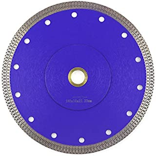 Tile Blade 7 Inch,Stylish Y&I Porcelain Blade Super Thin Ceramic Diamond Saw Blades for Grinder Dry or Wet Tile Cutter Disc With Adapter 7/8
