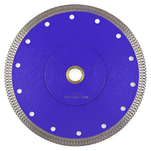 "Tile Blade 7 Inch,Stylish Y&I Porcelain Blade Super Thin Ceramic Diamond Saw Blades for Grinder Dry or Wet Tile Cutter Disc With Adapter 7/8"",20mm,5/8 Inch Abor (7 inch)"