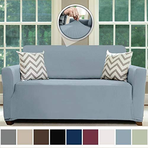 Best Sofa Shield Original Fitted 1 Piece Loveseat Slipcover, Soft, Stretch, Seat Width Up to 54 Inch Furn