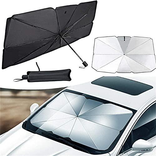 Auto Windschutzscheibe Sonnenschirm Regenschirm, Faltbare Sonnenblende Tönung Folie für Frontfenster, Universal Auto Fenster Sonnenschutz Vorhang, UV Schutz Wärmereflektor