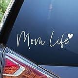 Blue Giraffe Mom Life Car Decal - 7'' Cute Bumper Sticker for Your Car