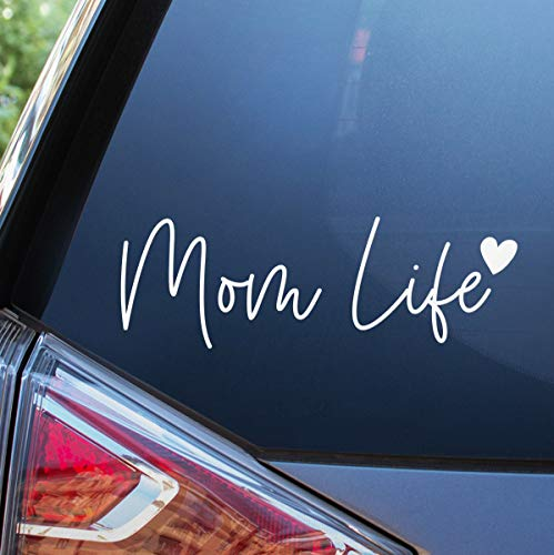 Blue Giraffe Mom Life Car Decal - 7'' Cute Bumper Sticker for Your Car