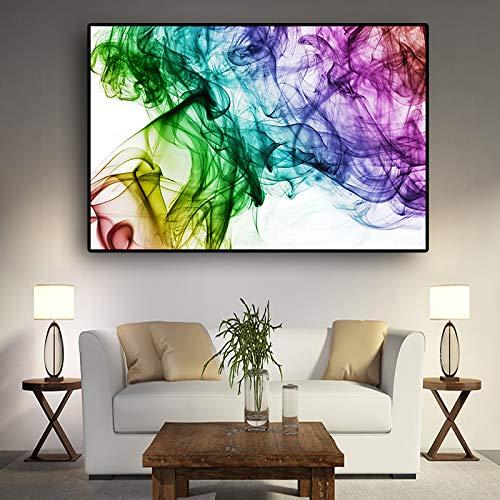 SADHAF Abstracte dynamische aquarel canvas schilderij poster en afdrukken Scandinavische pop-art woonkamer decoratief schilderwerk muur 70X100cm (kein Rahmen) A6.