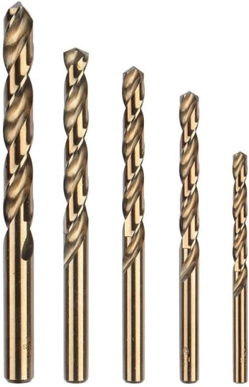 Stainless Steel Special Metal Drilling Cobalt-containing high-Speed Steel Hand Drill,5pcs5.5mm 5pcs 3-13mm Hard Alloy Twist Drill bit