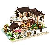 ZHBB Casa de muñecas Muebles miniatura casa de muñecas bricolaje casa miniatura casa habitación caja teatro juguetes para niños pegatinas bricolaje casa de muñecas