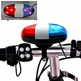 generic 6 LED, 4 Tones Bike Bell Cycling Police Front Light Warning Siren
