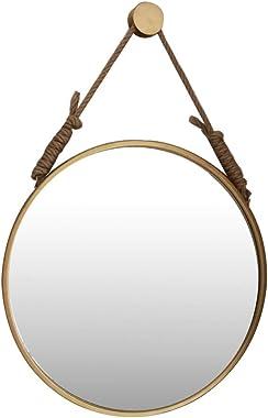 Miroir accrochant de Maquillage de Salle de Bains Nordique avec la Corde de Chanvre et la Peinture à Hautes températures accr