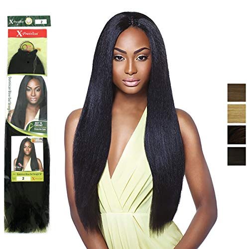 X-Pression Pre-Looped DOMINICAN BLOW OUT STRAIGHT 18'' Elegante Kunsthaar Braids bulk, Farbe:4 (Mittelbraun)