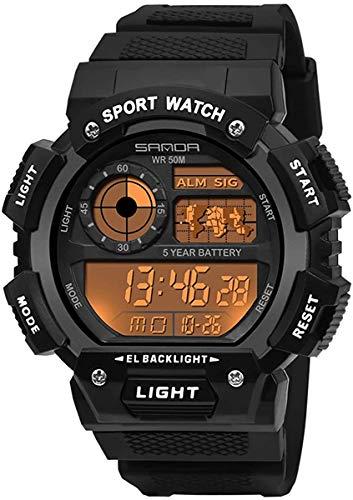 JIAJBG Los Militares Relojes Deportivos Impermeable Al Aire Libre de Supervivencia Muchachos Que Se Ejecutan Las Pulseras de Reloj de Pulsera Tratical Reloj Cronómetro Digital para