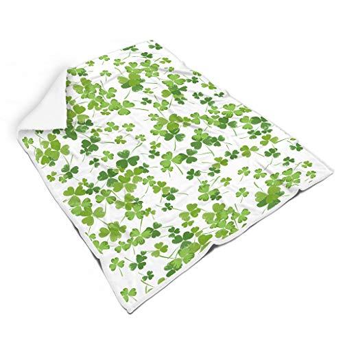 Charzee St Patrick's Day Serie Home Tapijt Hooded Blanket zacht soft-mantel slaapdeken woondeken winter computer microvezel deken voor volwassenen
