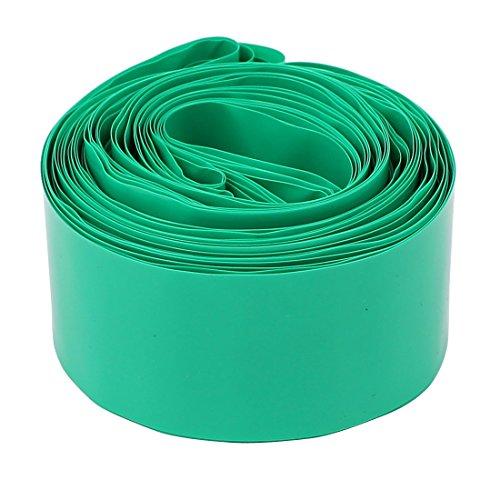 sourcingmap® 30 mm de diámetro 9.9M Longitud PVC Tubo termoretráctil del tubo verde de 1 x 18650