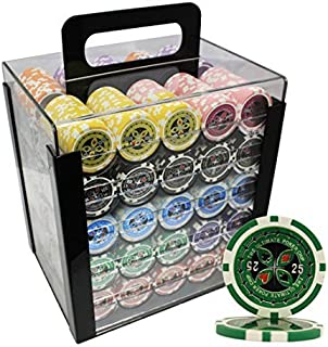 MRC 1000pcs Ultimate Laser Poker Chips Set with Acrylic Case Custom Build