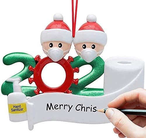 Kakeyi Weihnachts Dekorationsset, 2020 Quarantäne Survivor Familie, personalisiertes Weihnachtsdekorationsset, kreatives Geschenk für Familie