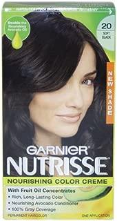 Garnier Nutrisse Nourishing Color Creme # 20 Soft Black By Garnier For Unisex - 1 Application Hair Color 1 Application