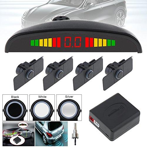 Benwei capteurs de 4 pcs 16,5 mm original de voiture Plat Capteur de stationnement Crescent Auto Reverse sauvegarde Système de détecteur de radar avec écran LED et ailes pour voitures