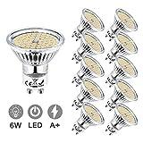 LED GU10 Blanc Froid, Eofiti 6W Ampoules GU10 LED 6000K Equivalence Incandescence 50W Lumière 540LM...