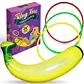 """Inflatable Banana Ring Toss Bachelorette Party Games - Bridal Shower Game, Decorations and Supplies for Engagement Parties, Girls Night Out & Bride to Be Favors - 26"""" Banana with 3 Rings for Tossing from A3 DIRECT"""