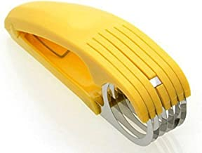 Guyuyii Banana Slicer for Kitchen Tools, ABS + Stainless Steel Fruit Salad Peeler Cutter,..