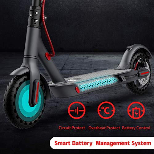 GeekMe Elektroroller abziehbarer Sitz 8,5 Zoll Reifen City Scooter Bis zu 25 km / h   Faltbar Elektroscooter mit LCD-Anzeige  7, 5A Lithium Akku   Maximale Belastung 120 kg Für Erwachsene - 5