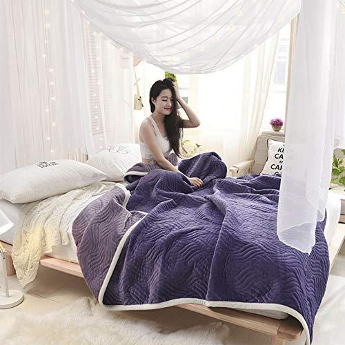 LYYJF Flanell-Fleece-Überwurf, Überwurf, Decke, Reise, superweich, flauschig, warm, solide Bettüberwürfe für Sofa, Mikrofaser, F1.150 x 200 cm