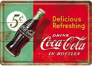 Metal Tarjeta Postal - Coca-Cola - Delicious Refreshing Green