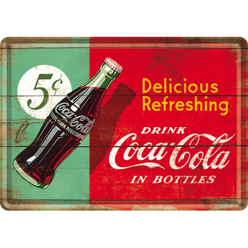 Coca Cola Delicious Refreshing Petite Plaque/Carte Postale (na)
