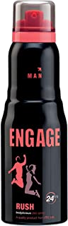 Engage Man Deodorant, Rush, 150ml / 165ml (Weight May Vary)