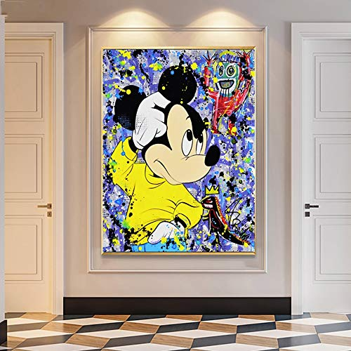 Geiqianjiumai HD-Druck niedlichen Cartoon Maus Bild Poster Moderne Leinwand Malerei rahmenlose Malerei 60x80cm