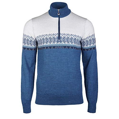 Dale of Norway Herren Hovden Masc Sweater L Siehe Mele/Smoke/Navy/Tuerkis/Off White