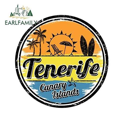 OLUYNG Sticker de Carro 13cm x 13cm para Tenerife calcomanías de Viaje Creative Zero Impermeable reparación de Sellos para JDM Pegatinas de oclusión de Coche SUV RVEstilo A