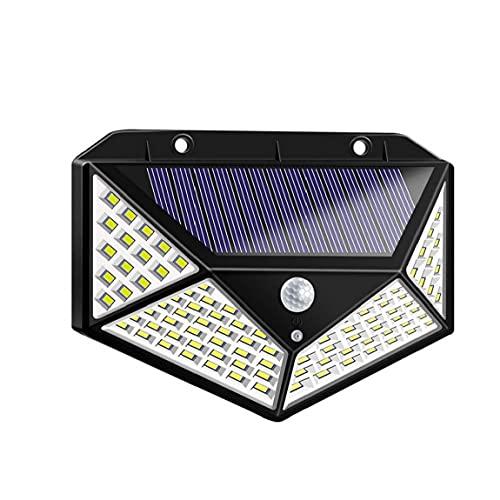 Las luces solares Cuatro Caras 100 LED solar al aire libre luz del sensor de 1000Lumens IP65 a prueba de agua Luz a la pared de seguridad de gran angular con 3 modos de jardín solar de la pared